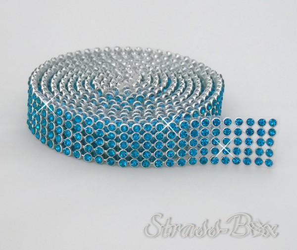 Hotfix MESH SS8 PEACOCK BLUE Band / 5 Reihen