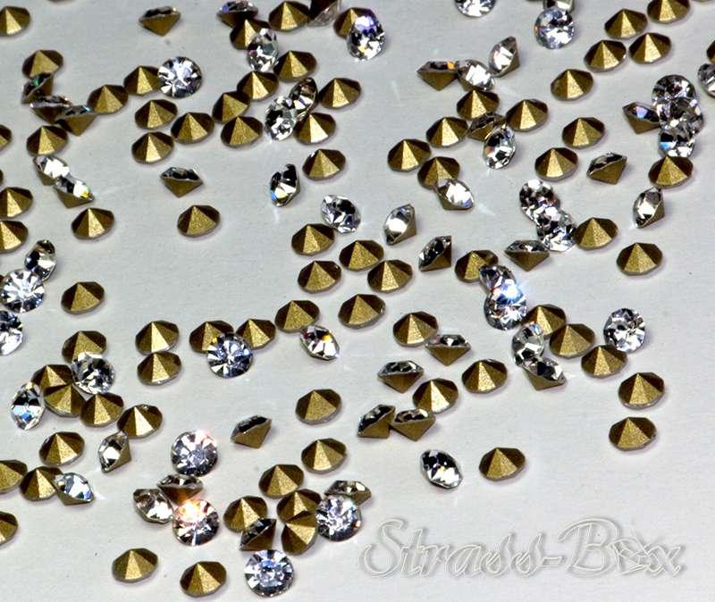 Strasssteine Borten & Embellishments Chaton Strasssteine SS4 PP9 1,5-1,6 mm Crystal klar 10 Stück