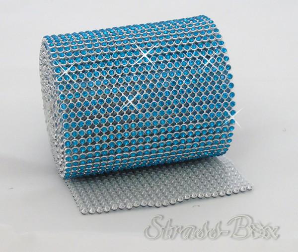 Hotfix MESH SS8 PEACOCK BLUE Band / 24 Reihen