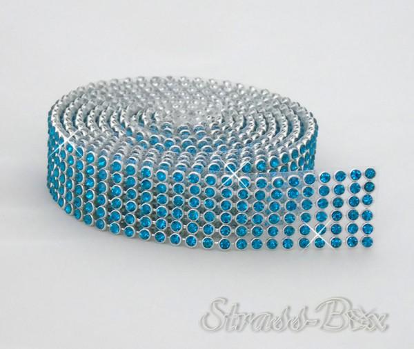 Hotfix MESH SS8 PEACOCK BLUE Band / 6 Reihen