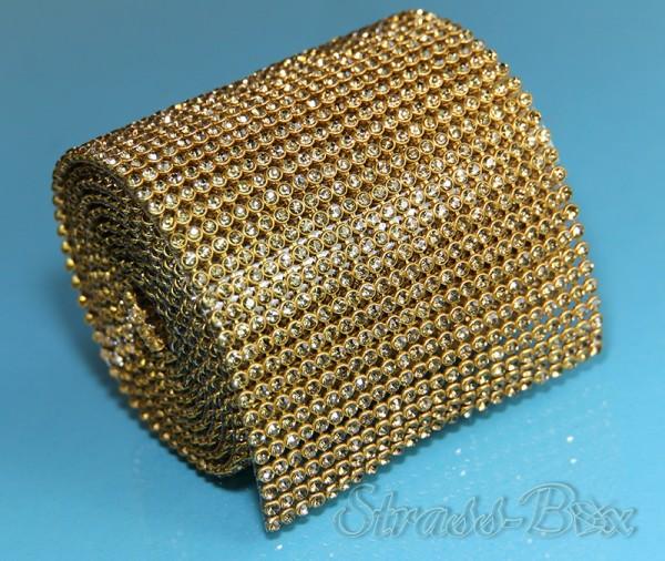 Hotfix MESH SS8 LCT / GOLD Band / 24 Reihen
